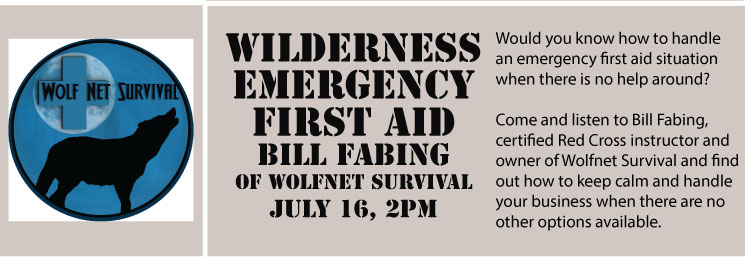 Wilderness Emergency First Aid with Bill Fabing of Wolfnet Survival