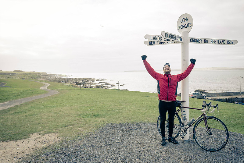 Cyclist at Lands End