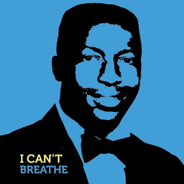 Memorial tribute to Eric Garner created by Bed-Stuy based artist, Adrian Franks.