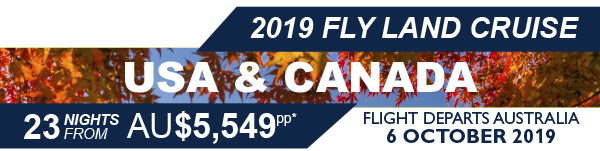 Fly land Cruise  USA AND CANADA
