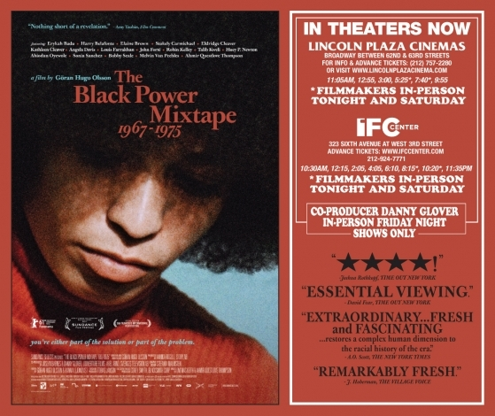 Winner of The Best Editing prize at the 2011 Sundance Film Festival, <em>Black Power Mixtape</em>, is an irresistible audiovisual collage, the film combines a treasure trove of recently rediscovered footage of the 1967–75 Black Power Movement with penetrating commentary by leading contemporary African-American voices, all set to an evocative soundtrack by Questlove of the Roots and Om'Mas. Directed by Swedish filmmaker Göran Hugo Olsson's revelatory , co-produced by longtime activist and actor Danny Glover.
