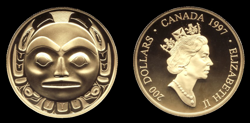 Robert Davidson $200 Royal Canadian Mint Coin