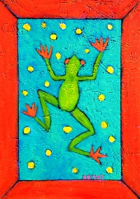 """""""Leap Frog"""" Painting by BZTAT"""
