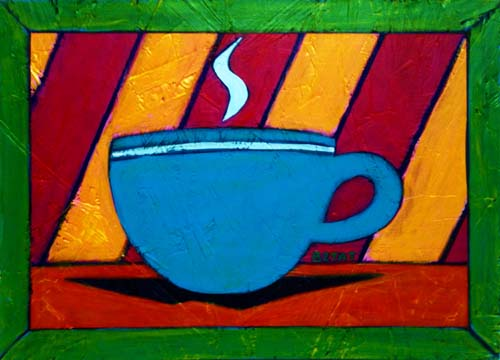 Abstract Coffee Cup Painting by BZTAT