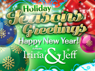 Thousand Oaks CA Real Estate - Seasons Greetings Happy New Year from Irina & Jeff Shoket - Irina & Jeff Shoket Realtor