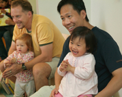 Families at storytime