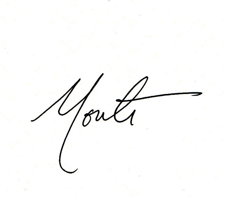 Monte's signature