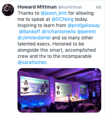 Howard Mittman Summit Tweet