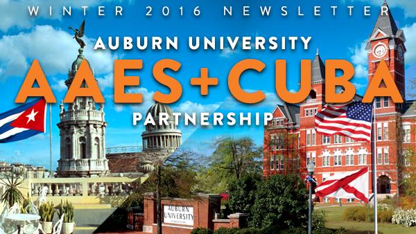 Auburn University AAES + Cuba Partnership 2016 Newsletter Header