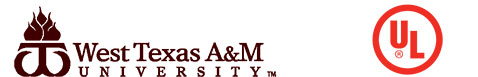 West Texas A&M University and Underwriters Laboratiries logos