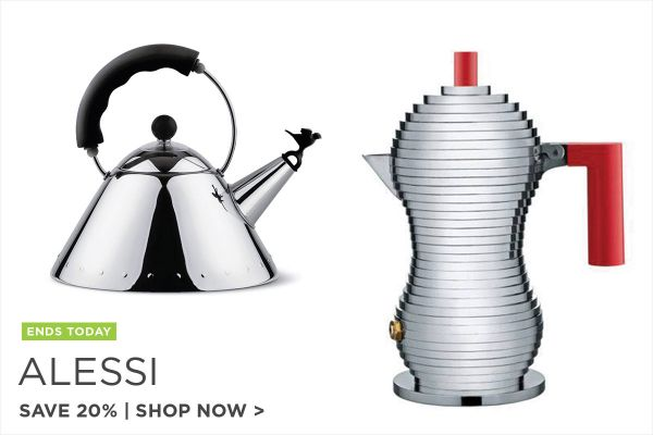 Alessi Sale Ends, Save 20%