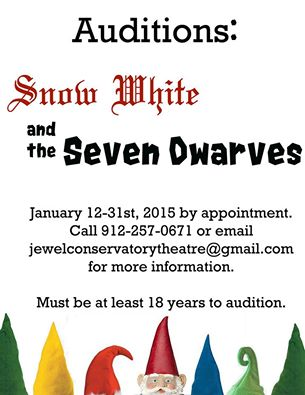 Sign up for auditions for Snow White plus winter theater classes @ The Jewel Conservatory Theatre, Rincon