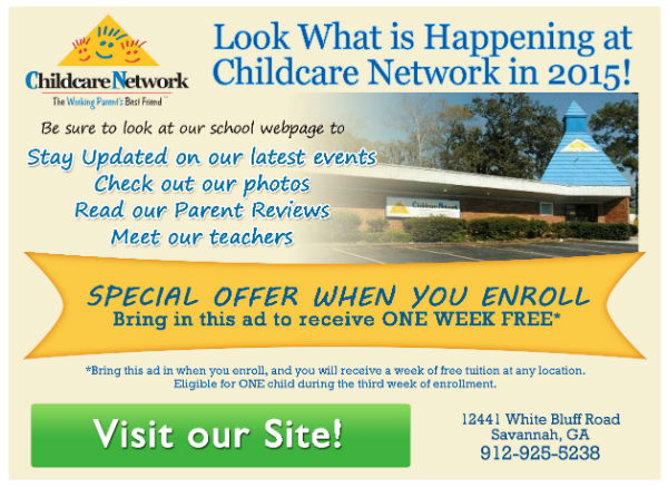 One week of free childcare @ Childcare Network in Savannah, Wilmington Is.