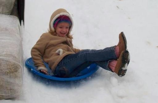 Sledding, snow balls, snow angels, campfires & more @ Snow Days 2015, Madrac Farms in Rincon
