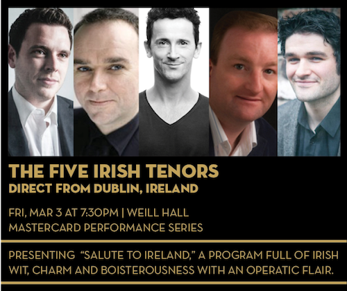 The Five Irish Tenors direct from Dublin, Ireland