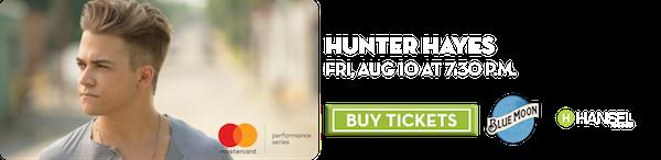 Hunter Hayes – Aug 10