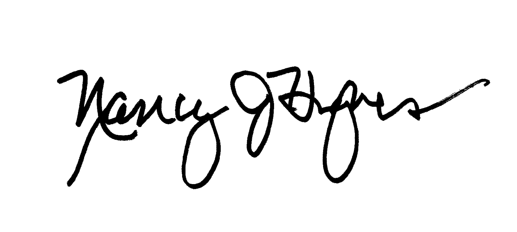 Nancy Hughes signature