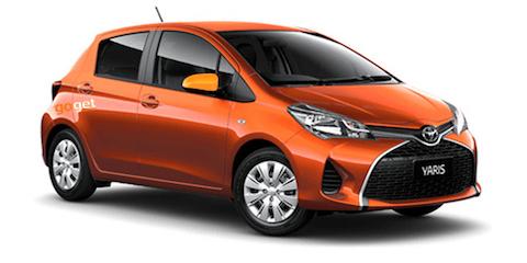 Orange GoGet vehicle