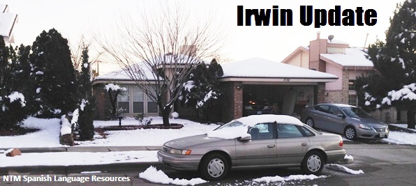Irwins' house in snow