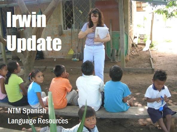 Consuelo teaching Bible class to tribal kids