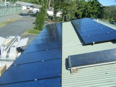 solar panels at Sustainability Centre
