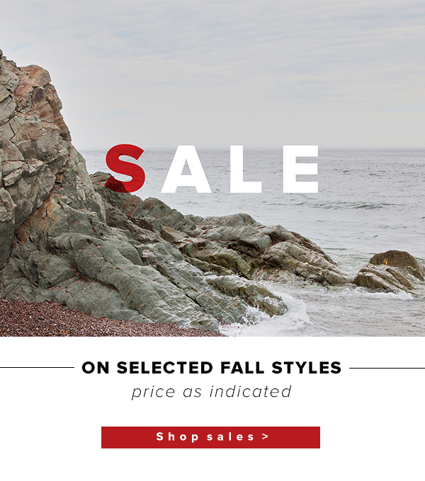 Sales On Selected Fall Styles