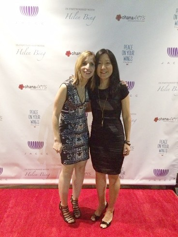 "Laurie Rubin and Jennifer Taira on the red carpet at the West Coast premiere of ""Peace On Your Wings."