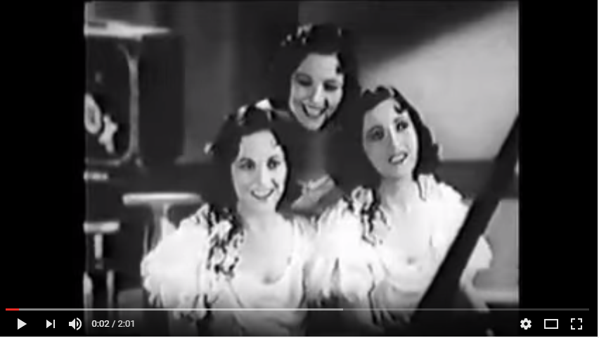 The Boswell sisters were a similar well-known trio. Click the image above to play the video.