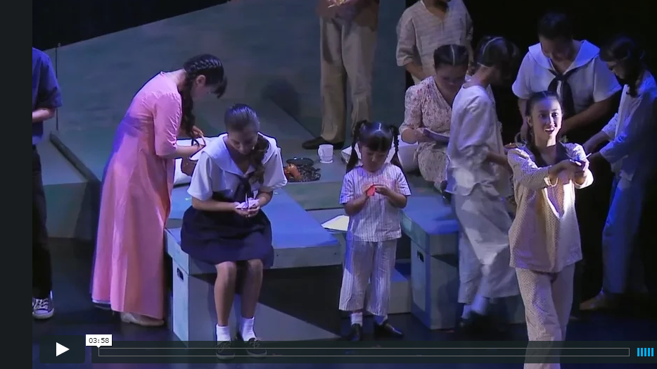 Click on the image above and see 14-year-old Shayna Yasanuga in the title role, leading her all-youth ensemble (including 6-year-old Maya Nakamoto) in the title song.