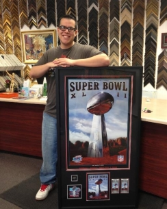 Custom Framed Super Bowl XLII Collage