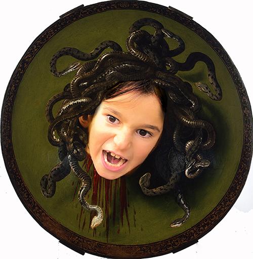 Medusa, by Caravaggio (represented by Christina)