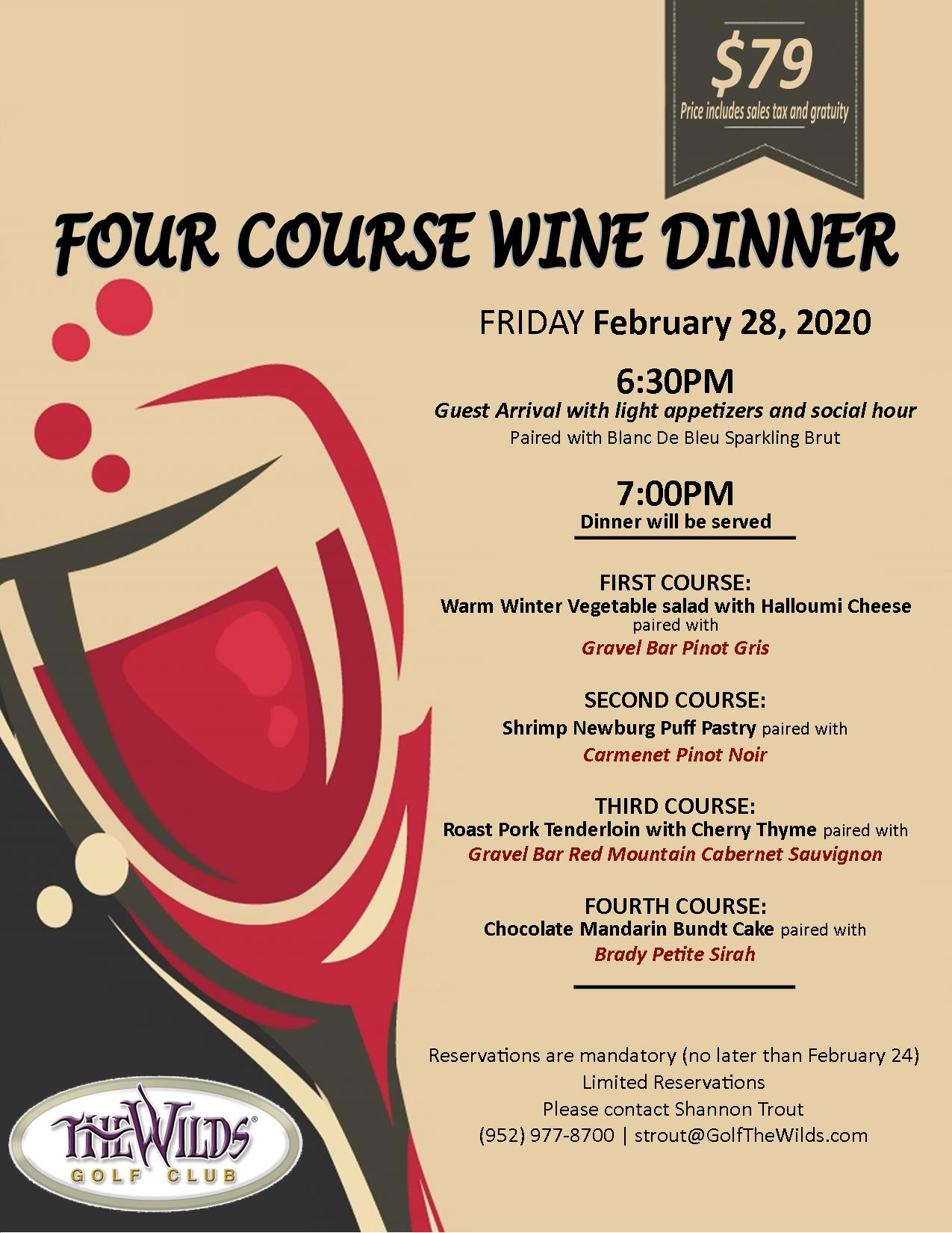 Four Course Wine Dinner