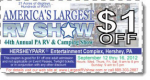 2012 Hershey Pennsylvania Show RV September Coupons