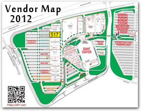 2013 Hershey RV Show Map