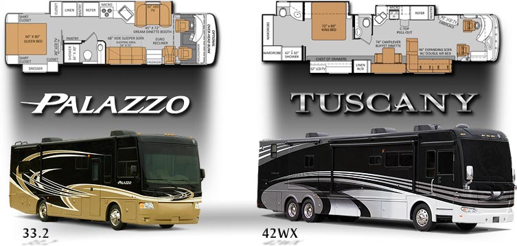 Luxury Diesel Pushers - Compact to 45 Feet Large!