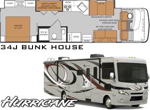 New 2014 Class A Bunk House Motorhomes