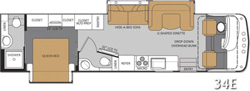 New Rear Bath + Bath 1/2 Class A RV