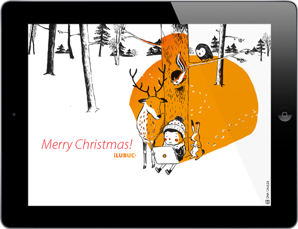 iLUBUC Christmas Card. Illustration: Ona Caussa
