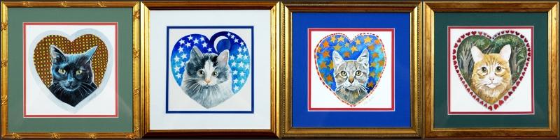Cat Watercolor Series