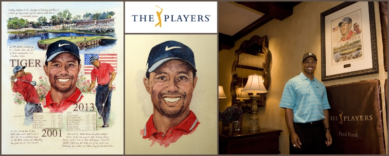 Portrait of Tiger Woods, 2013 PLAYERS Champion, March 2014