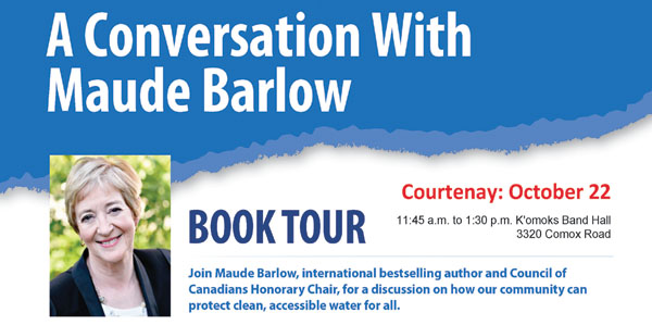A Conversation with Maude Barlow. Book Tour: Whose Water Is It Anyway?