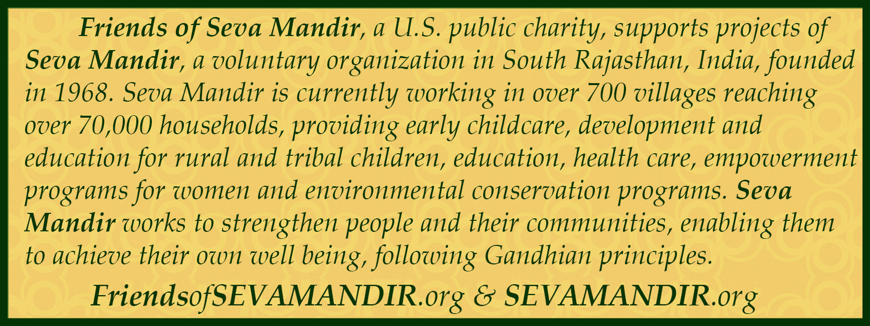 Friends of Seva Mandir