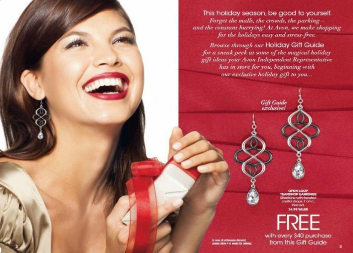 Free earrings with every $40 purchase from Avon's Gift Guide