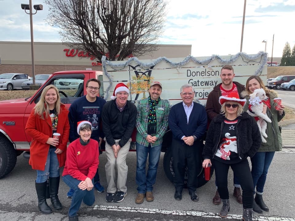 Thanks to Mayor Cooper for coming by our float before we started the Christmas Parade.