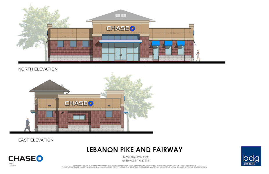 Lebanon Pike and Fairway Drive where the Philip's 66 gas station used to be is going to be a Chase Bank.