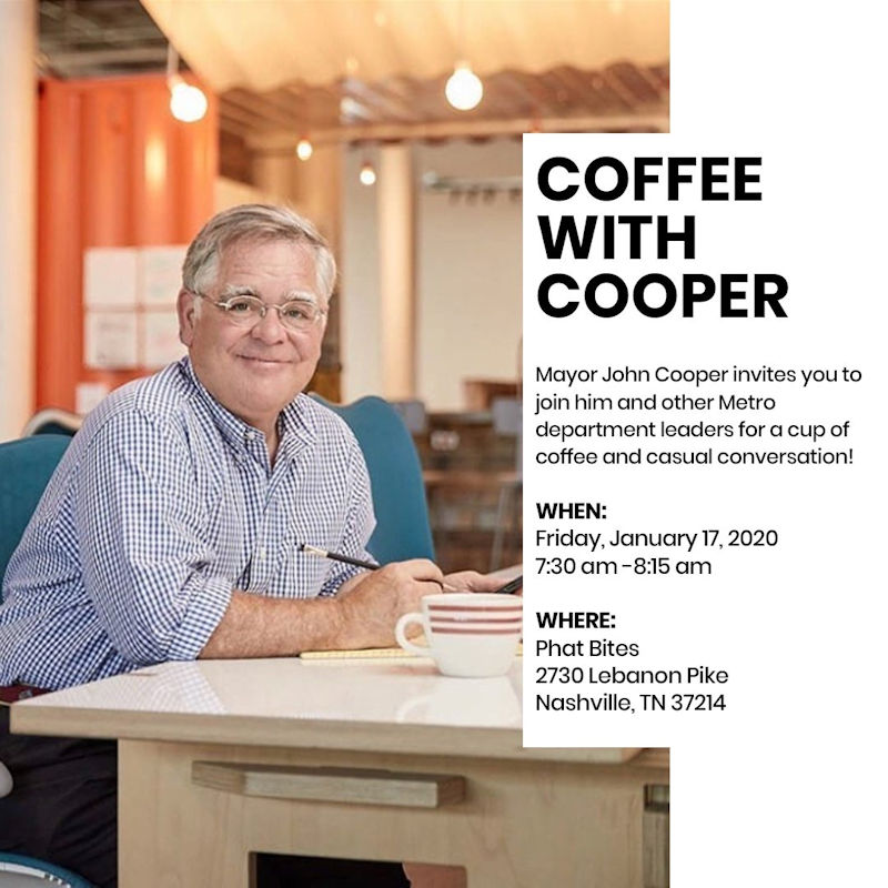 Coffee with Mayor Cooper