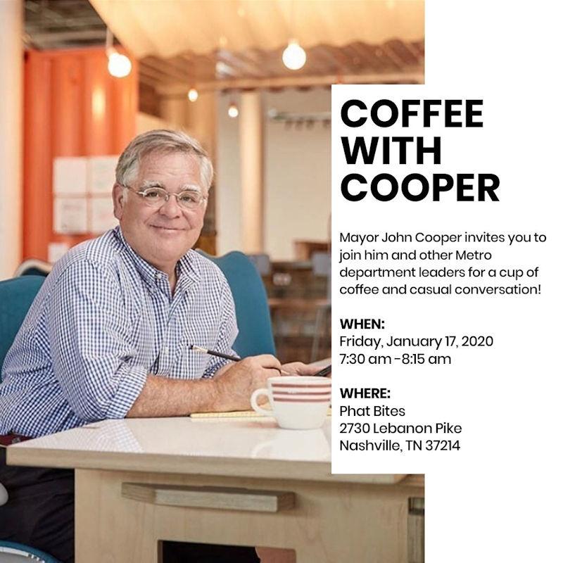 Coffee with Mayor Cooper