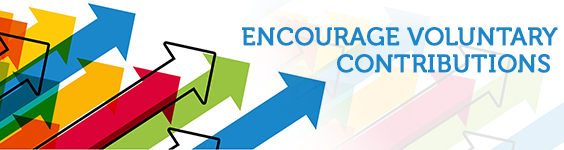 Arrows Encourage Voluntary Contributions