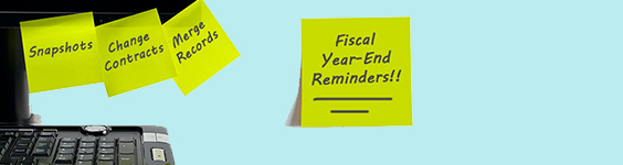 Fiscal Year-End Reminders