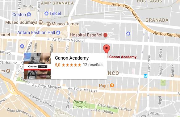 ¿Cómo llego a Canon Academy?